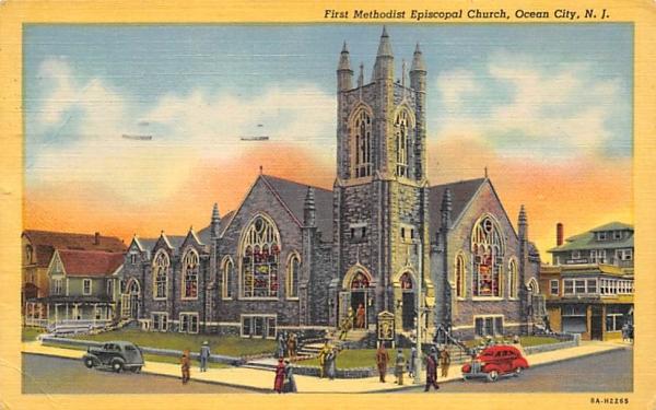 First Methodist Episcopal Church Ocean City, New Jersey Postcard