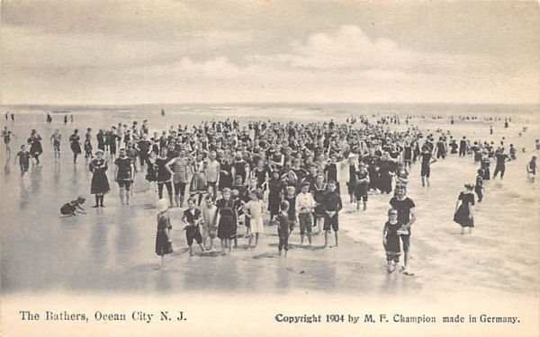 The Bathers  Ocean City, New Jersey Postcard