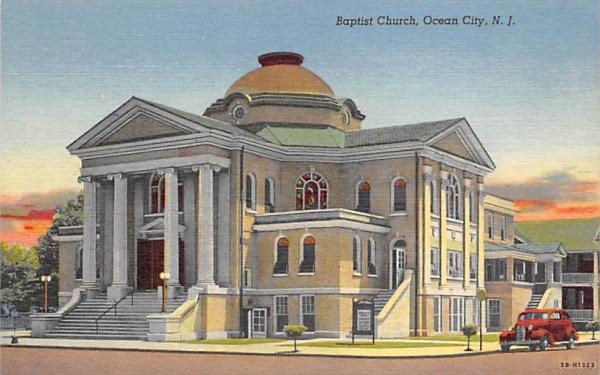 Baptist Church Ocean City, New Jersey Postcard