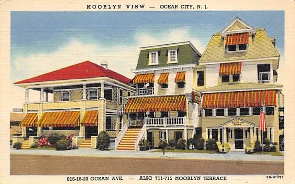 Moorlyn View Ocean City, New Jersey Postcard