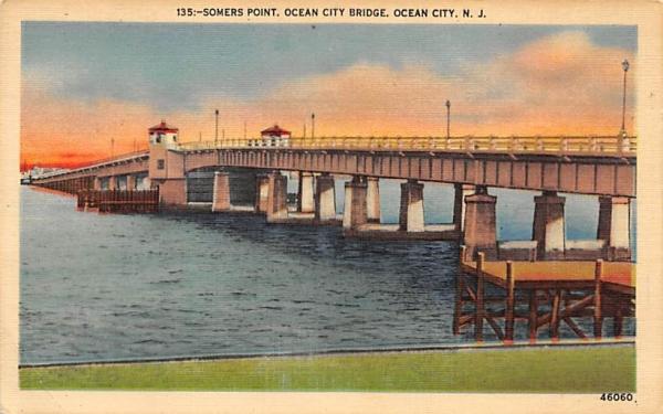 Somers Point, Ocean City Bridge New Jersey Postcard
