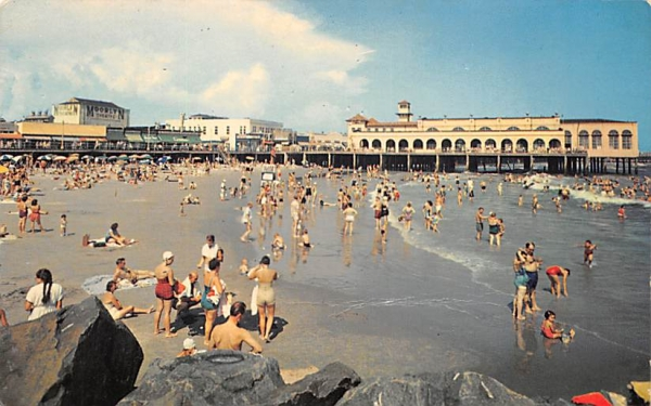 Enjoying Sand and Surf Ocean City, New Jersey Postcard