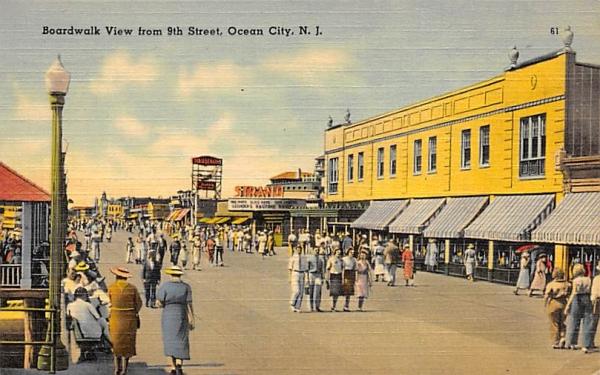 Boardwalk View from 9th Street Ocean City, New Jersey Postcard
