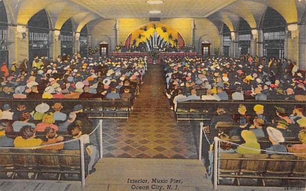 Interior, Music Pier Ocean City, New Jersey Postcard