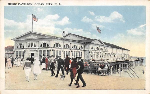 Music Pavilion Ocean City, New Jersey Postcard