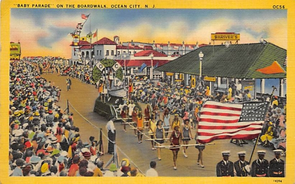 Baby Parade on the Boardwalk Ocean City, New Jersey Postcard