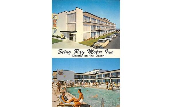 Sting Ray Motor Inn Ocean City, New Jersey Postcard