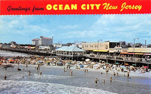 Greetings from Ocean City New Jersey, USA Postcard