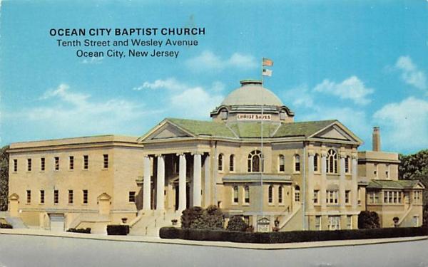 Ocean City Baptist Church New Jersey Postcard