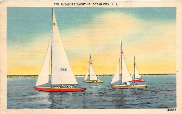 Pleasure Yachting Ocean City, New Jersey Postcard
