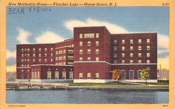 New Methodist Home, Fletcher Lake Ocean City, New Jersey Postcard