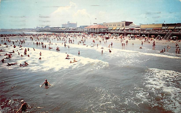 Bathing in the Surf Ocean City, New Jersey Postcard