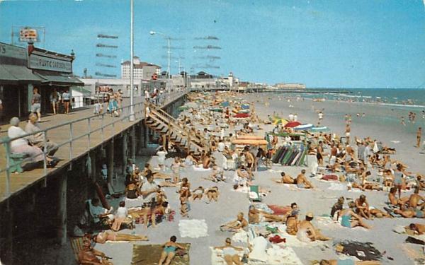 Beach and Boardwalk Ocean City, New Jersey Postcard