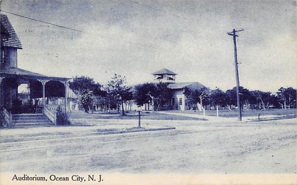 Auditorium  Ocean City, New Jersey Postcard
