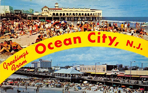 Greetings from Ocean City, N. J., USA New Jersey Postcard