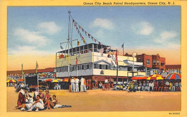 Ocean City Beach Patrol Headquarters New Jersey Postcard