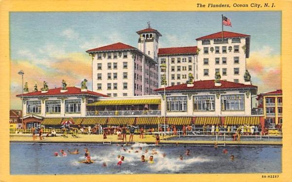 The Flanders  Ocean City, New Jersey Postcard
