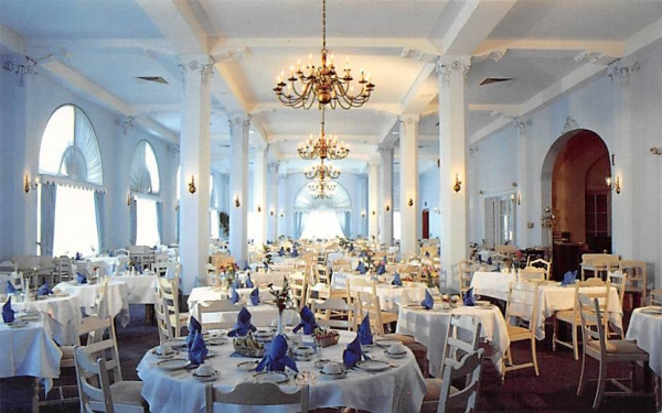 Main Dining Room, The Flanders Hotel Ocean City, New Jersey Postcard