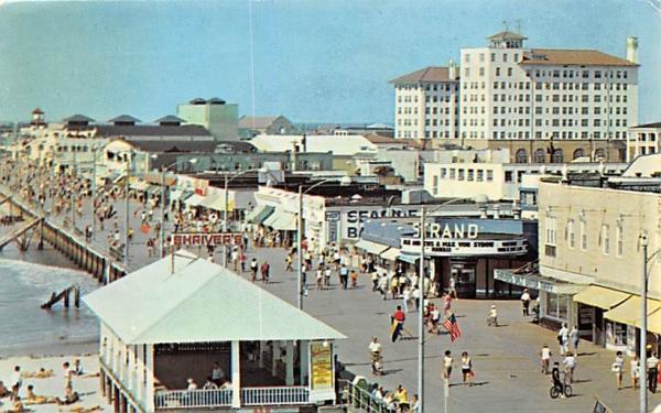 Bird's Eye View of Skyline and Boardwalk Ocean City, New Jersey Postcard