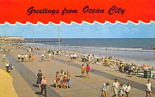 looking over the beach and ocean is always a treat Ocean City, New Jersey Postcard