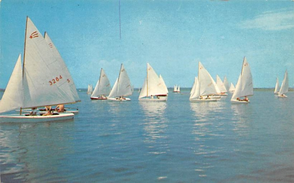 Getting Ready for the Race Ocean City, New Jersey Postcard