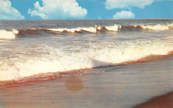 Breakers Along the Shore Ocean City, New Jersey Postcard