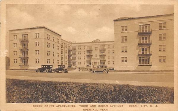 Ocean Court Apartments Ocean City, New Jersey Postcard
