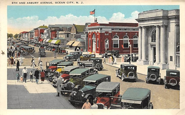 8th and Asbury Avenue Ocean City, New Jersey Postcard