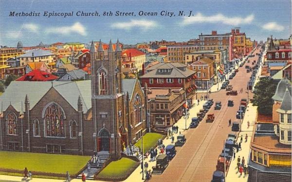 Methodist Episcopal Church Ocean City, New Jersey Postcard
