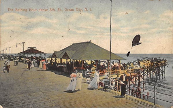 The Bathing Hour about 8th St. Ocean City, New Jersey Postcard