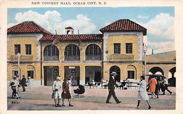 New Concert Hall Ocean City, New Jersey Postcard