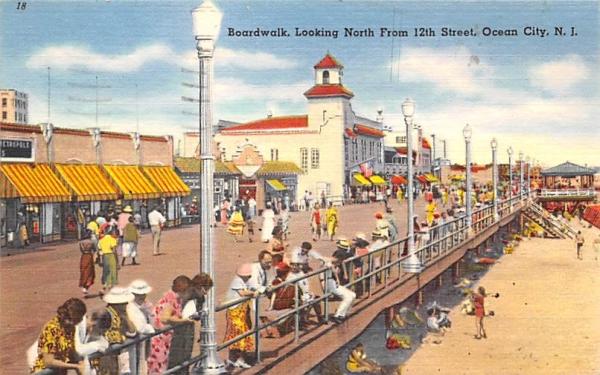 Boardwalk Ocean City, New Jersey Postcard