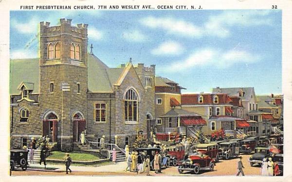 First Presbyterian Church Ocean City, New Jersey Postcard