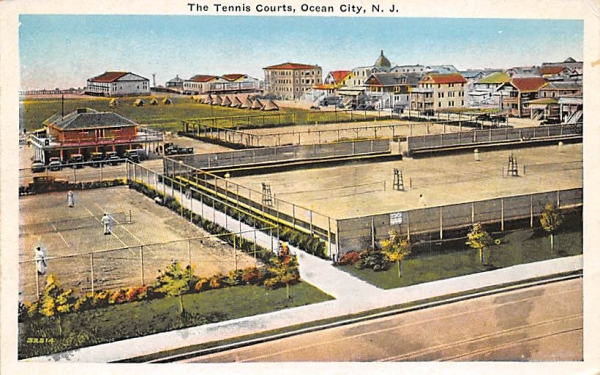 The Tennis Courts Ocean City, New Jersey Postcard