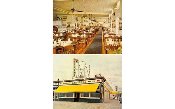 Simm's Restaurant Ocean City, New Jersey Postcard