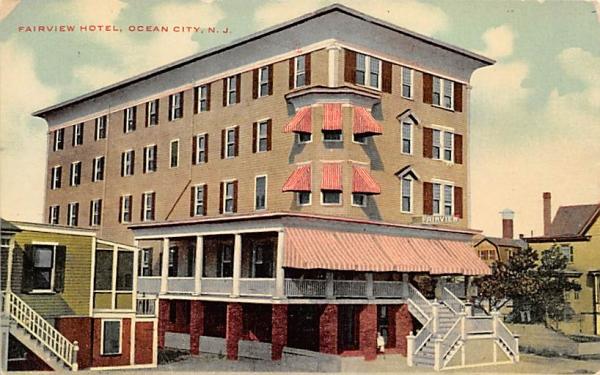 Fairview Hotel Ocean City, New Jersey Postcard