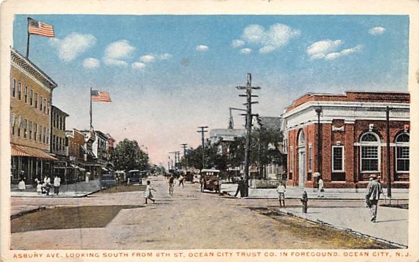 Asbury Ave. Ocean City, New Jersey Postcard