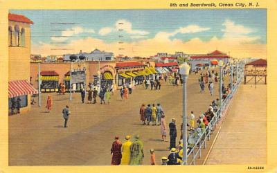 8th and Boardwalk Ocean City, New Jersey Postcard