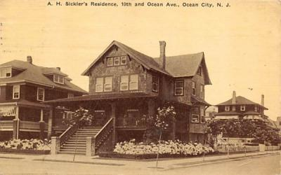 A. H. Sickler's Residence Ocean City, New Jersey Postcard