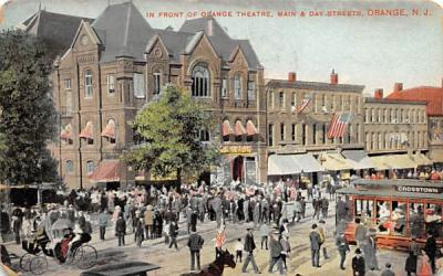 In Front of Orange Theatre New Jersey Postcard