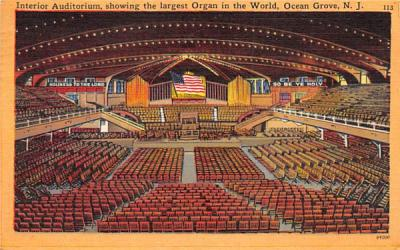 Largest Organ in the World Ocean Grove, New Jersey Postcard