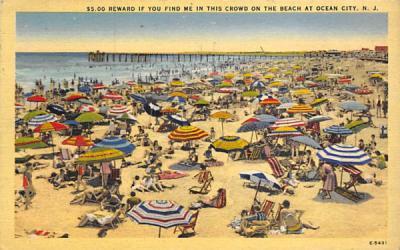 $5.00 Rerward If You Find Me Ocean City, New Jersey Postcard