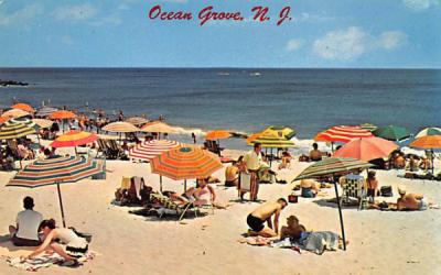 A nice place to relax on the beach Ocean Grove, New Jersey Postcard