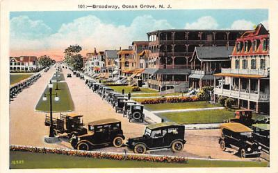 Broadway  Ocean Grove, New Jersey Postcard