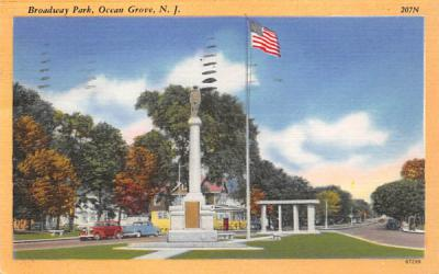 Broadway Park Ocean Grove, New Jersey Postcard