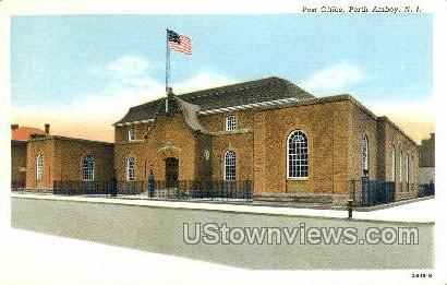 Post Office  - Perth Amboy, New Jersey NJ Postcard
