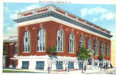 Library - Perth Amboy, New Jersey NJ Postcard