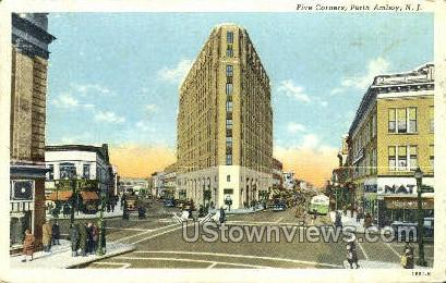 Five Corners  - Perth Amboy, New Jersey NJ Postcard