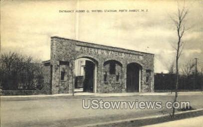 Albert G Waters Stadium  - Perth Amboy, New Jersey NJ Postcard