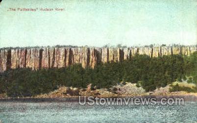 The Palisades  - Hudson River, New Jersey NJ Postcard